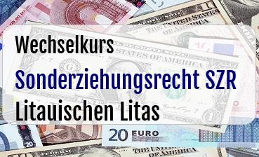 Sonderziehungsrecht SZR in Litauischen Litas