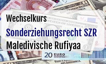 Sonderziehungsrecht SZR in Maledivische Rufiyaa