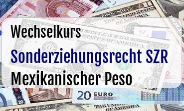 Sonderziehungsrecht SZR in Mexikanischer Peso