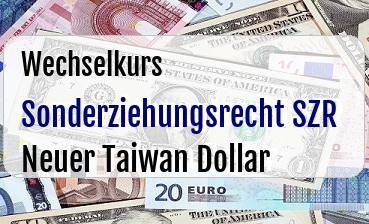 Sonderziehungsrecht SZR in Neuer Taiwan Dollar