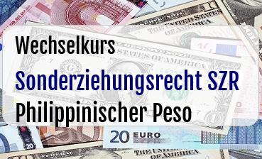 Sonderziehungsrecht SZR in Philippinischer Peso