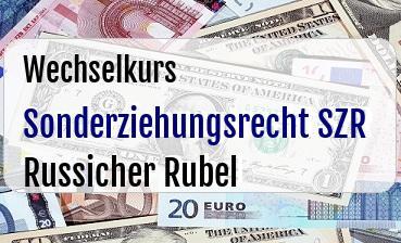 Sonderziehungsrecht SZR in Russicher Rubel