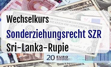 Sonderziehungsrecht SZR in Sri-Lanka-Rupie