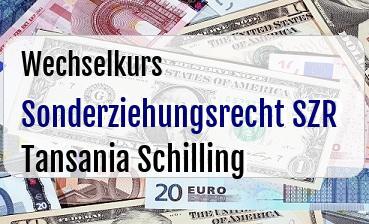 Sonderziehungsrecht SZR in Tansania Schilling