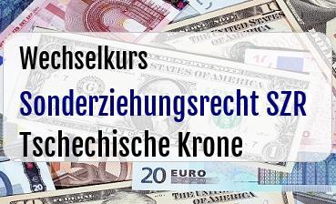 Sonderziehungsrecht SZR in Tschechische Krone
