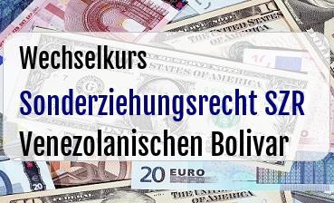Sonderziehungsrecht SZR in Venezolanischen Bolivar