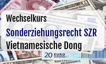 Sonderziehungsrecht SZR in Vietnamesische Dong