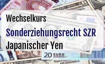Sonderziehungsrecht SZR in Japanischer Yen