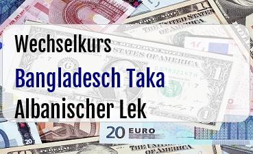Bangladesch Taka in Albanischer Lek