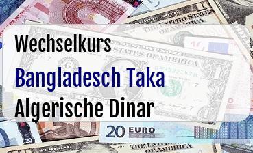Bangladesch Taka in Algerische Dinar