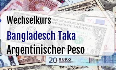 Bangladesch Taka in Argentinischer Peso