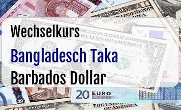 Bangladesch Taka in Barbados Dollar