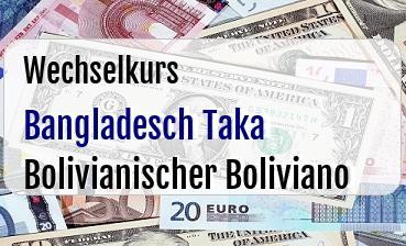 Bangladesch Taka in Bolivianischer Boliviano