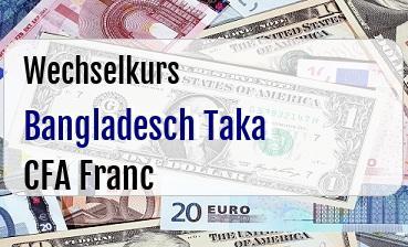Bangladesch Taka in CFA Franc