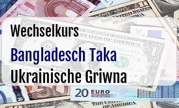 Bangladesch Taka in Ukrainische Griwna