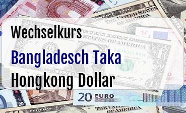 Bangladesch Taka in Hongkong Dollar