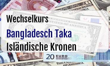 Bangladesch Taka in Isländische Kronen