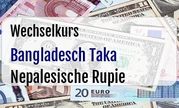 Bangladesch Taka in Nepalesische Rupie