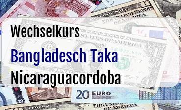 Bangladesch Taka in Nicaraguacordoba