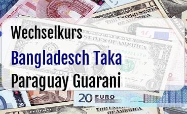 Bangladesch Taka in Paraguay Guarani
