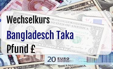 Bangladesch Taka in Britische Pfund