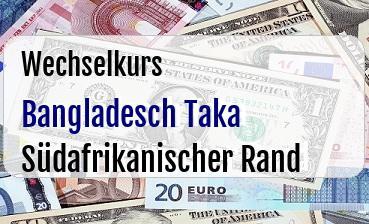Bangladesch Taka in Südafrikanischer Rand