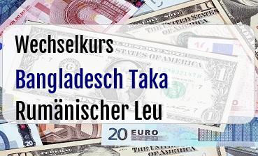 Bangladesch Taka in Rumänischer Leu