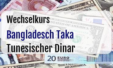 Bangladesch Taka in Tunesischer Dinar