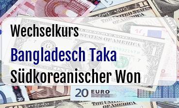 Bangladesch Taka in Südkoreanischer Won