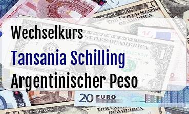 Tansania Schilling in Argentinischer Peso