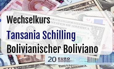 Tansania Schilling in Bolivianischer Boliviano