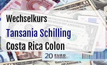Tansania Schilling in Costa Rica Colon