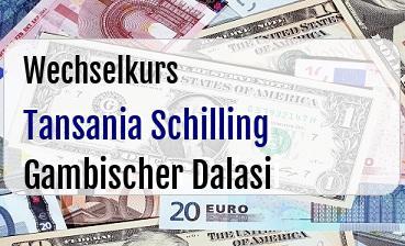 Tansania Schilling in Gambischer Dalasi