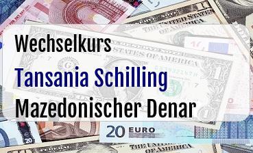 Tansania Schilling in Mazedonischer Denar