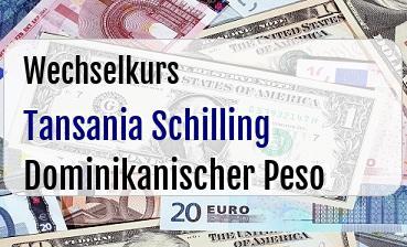 Tansania Schilling in Dominikanischer Peso