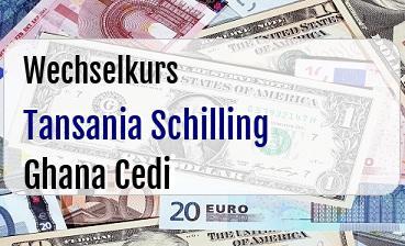 Tansania Schilling in Ghana Cedi