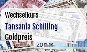 Tansania Schilling in Goldpreis