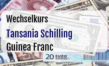 Tansania Schilling in Guinea Franc