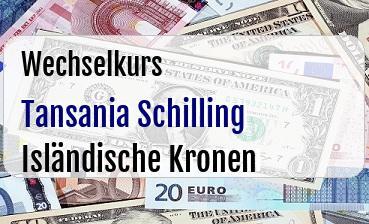 Tansania Schilling in Isländische Kronen