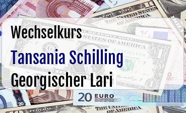 Tansania Schilling in Georgischer Lari