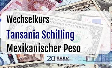 Tansania Schilling in Mexikanischer Peso