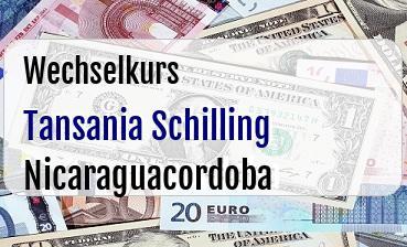 Tansania Schilling in Nicaraguacordoba