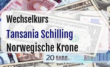 Tansania Schilling in Norwegische Krone
