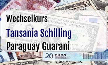 Tansania Schilling in Paraguay Guarani