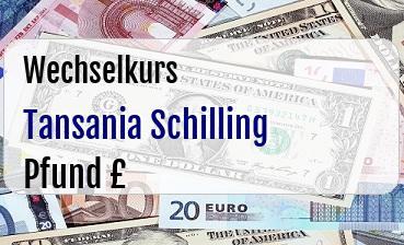 Tansania Schilling in Britische Pfund