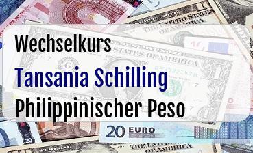 Tansania Schilling in Philippinischer Peso