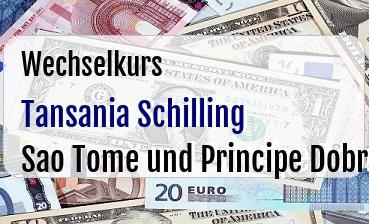 Tansania Schilling in Sao Tome und Principe Dobra