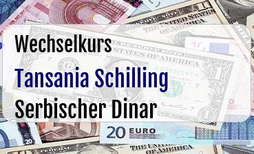 Tansania Schilling in Serbischer Dinar