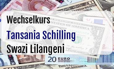Tansania Schilling in Swazi Lilangeni