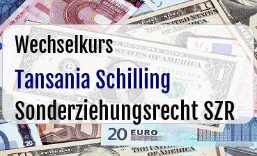 Tansania Schilling in Sonderziehungsrecht SZR